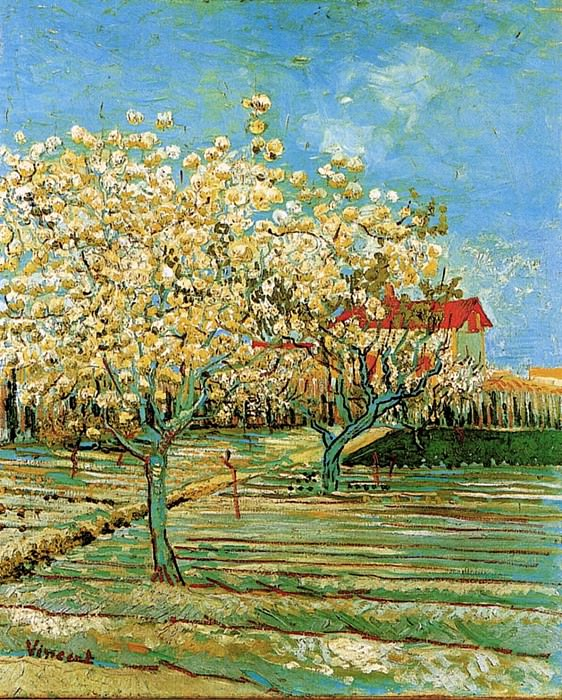 Orchard in Blossom. Vincent van Gogh