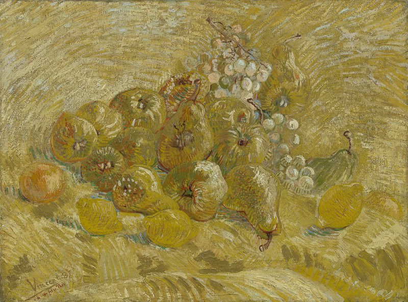 Still Life with Grapes, Pears and Lemons. Vincent van Gogh