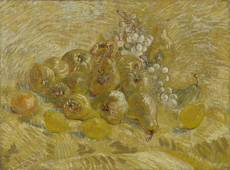 Натюрморт с виноградом, грушами и лимонами. Винсент Ван Гог