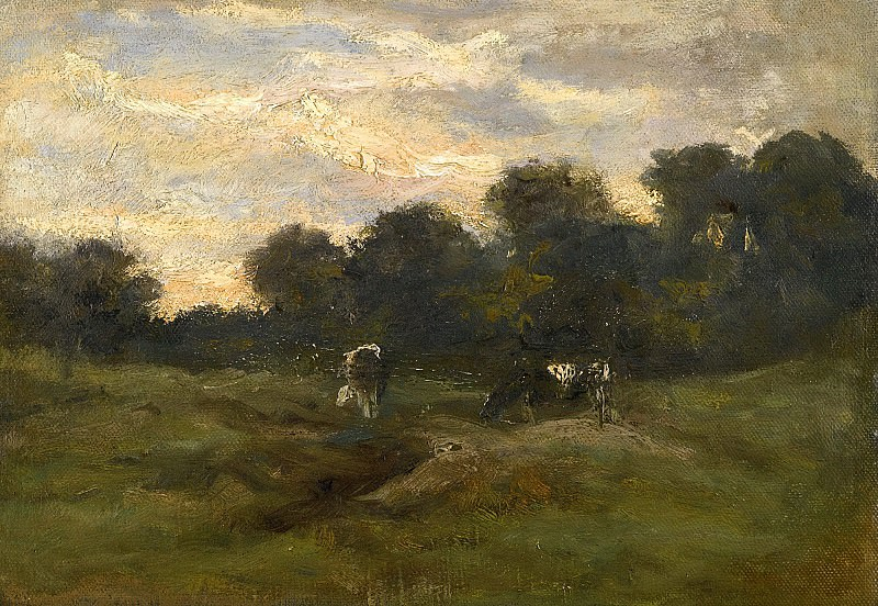 Pasture with cows. Vincent van Gogh