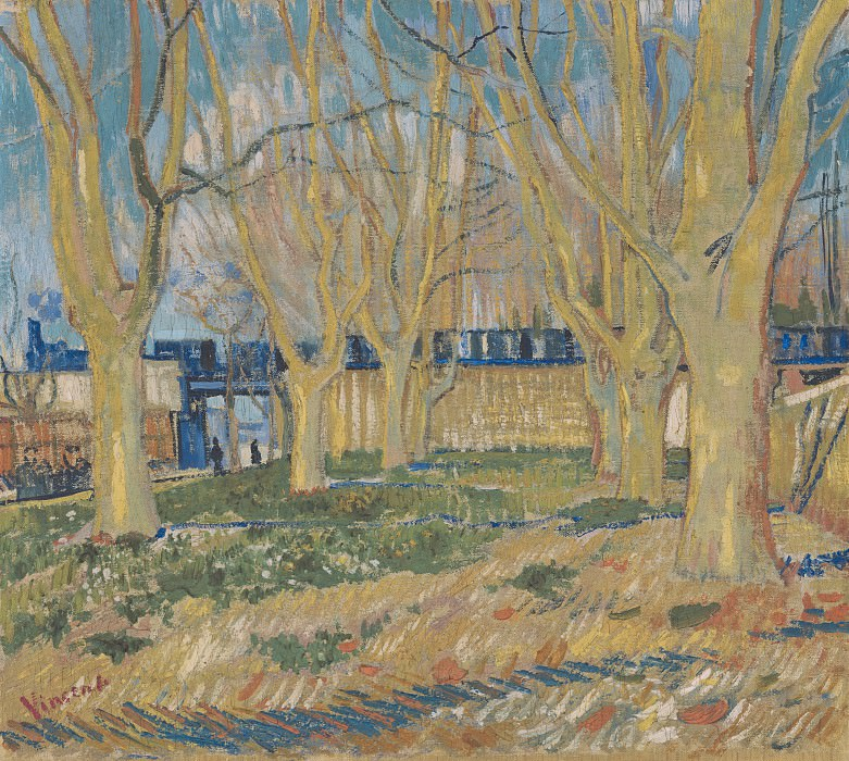 Avenue of Plane Trees near Arles Station. Vincent van Gogh