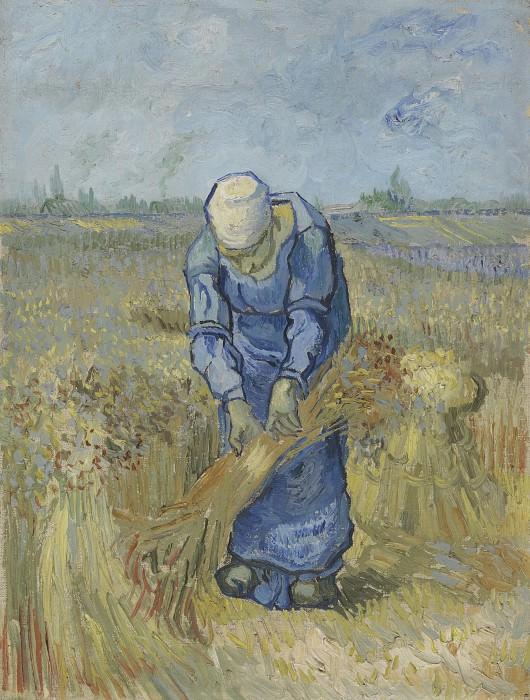 Peasant Woman Binding Sheaves (after Millet). Vincent van Gogh