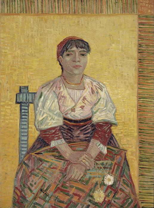 Italian Woman (Agostina Segatori). Vincent van Gogh