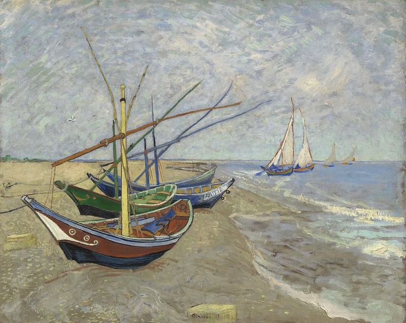 Fishing Boats on the Beach at Les Saintes-Maries. Vincent van Gogh