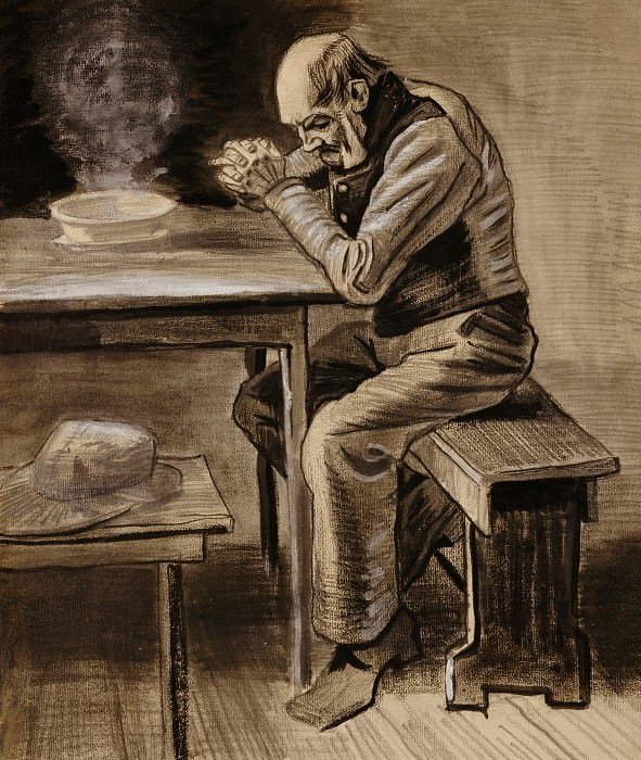 Молящийся старик. Винсент Ван Гог