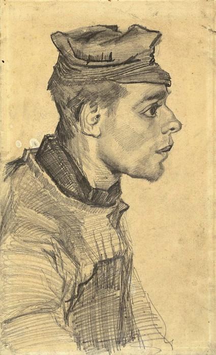 Head of a Young Peasant. Vincent van Gogh