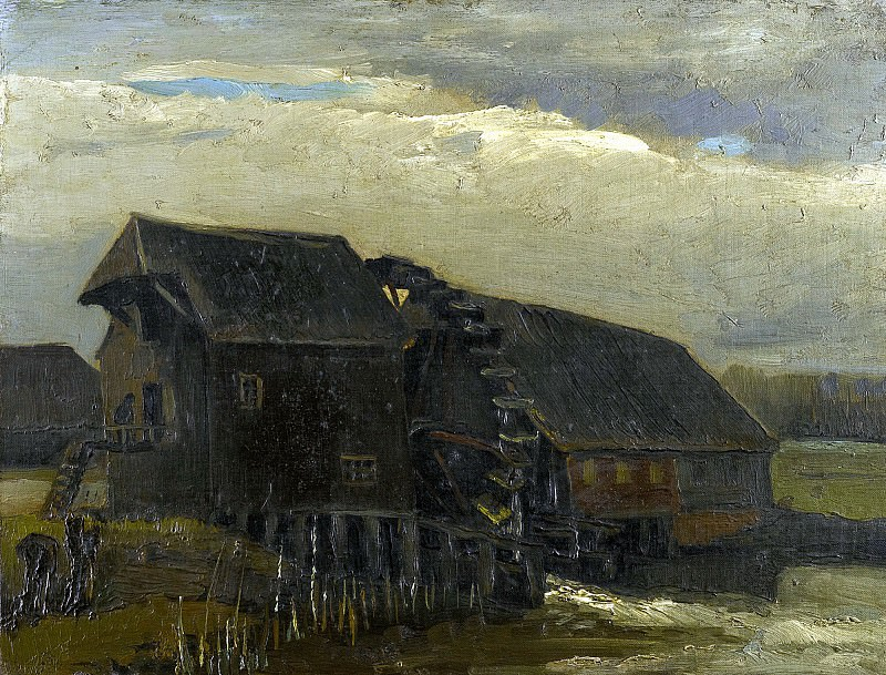 WATER MILL AT OPWETTEN. Vincent van Gogh
