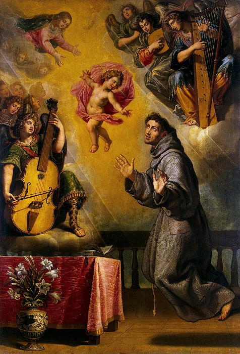 Carducci, Vicente - Vision of St. Anthony of Padua. Hermitage ~ Part 05