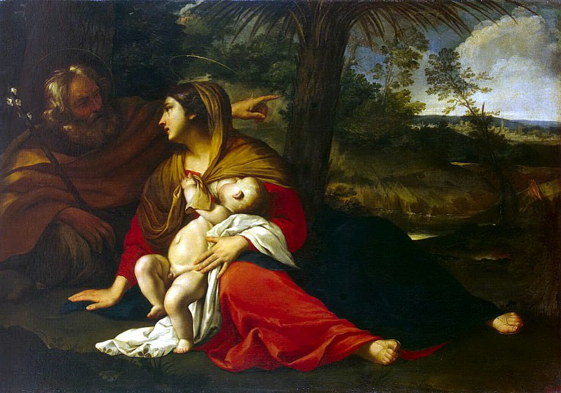 Rest of the Holy Family on the Flight into Egypt. Hermitage ~ Part 05