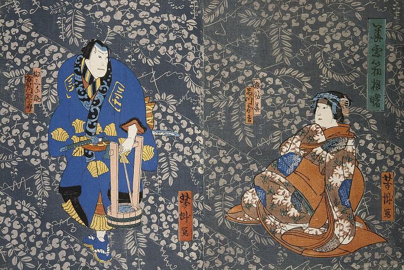 Itietey Yoshitaka - Diptych Actors Fudzikava Tomokiti III and Dzitsukava Ensaburo. Hermitage ~ Part 05