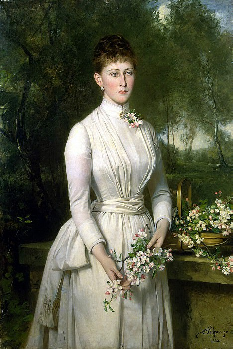 Zon, Karl Rudolf - Portrait of Grand Duchess Elizabeth Feodorovna. Hermitage ~ Part 05