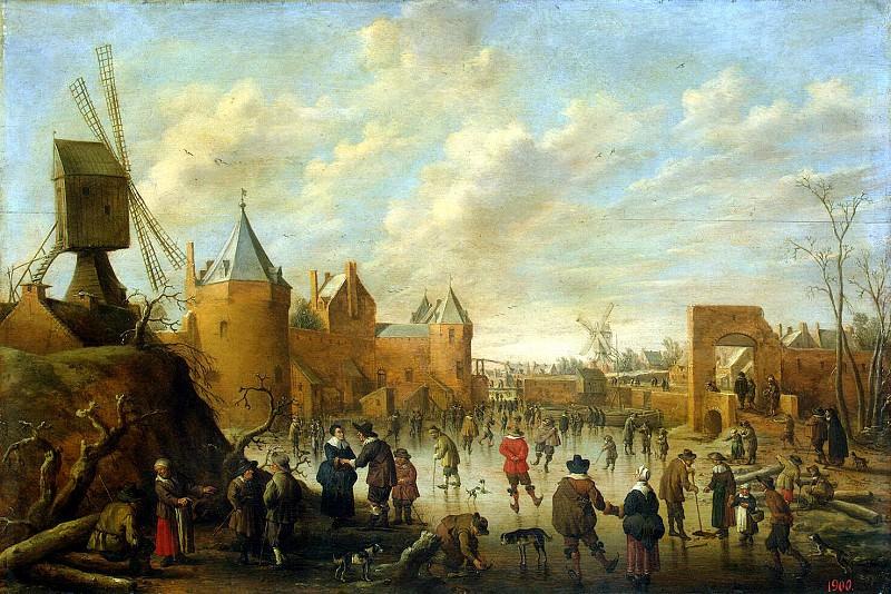 Drohslot, Jost Cornelisz - Winter in the Dutch city. Hermitage ~ Part 05