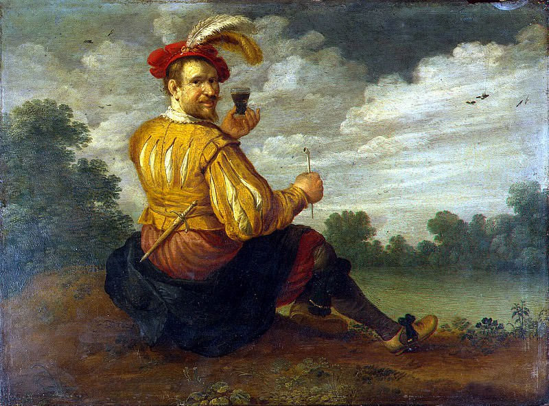 Drohslot, Jost Cornelisz - Self-Portrait in a Landscape. Hermitage ~ Part 05