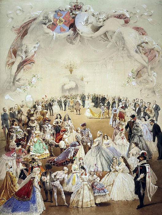 Zichy, Mihaly - fancy dress ball at the palace of Princess Helena Kochubey in honor of Emperor Alexander II on Feb. 5, 1865. Hermitage ~ Part 05