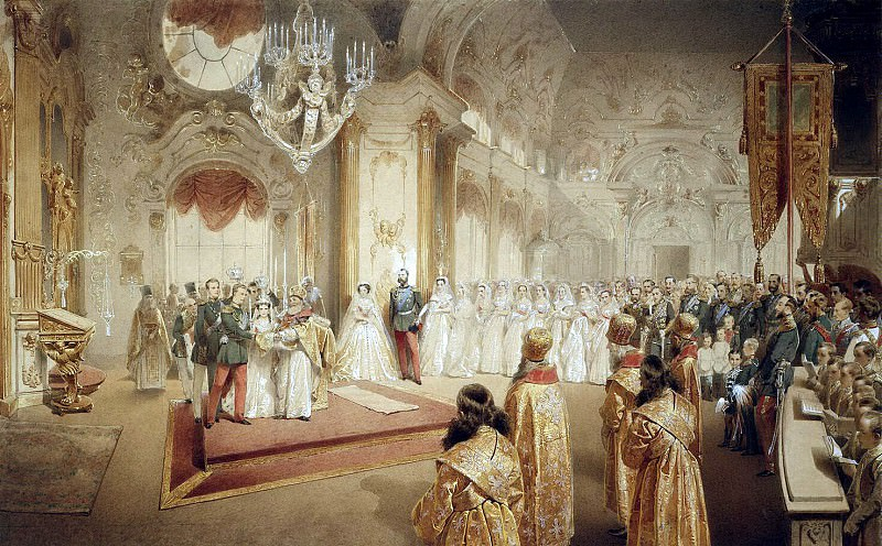 Zichy, Mihaly - Wedding of Grand Duke Alexander Alexandrovich and Grand Duchess Maria Feodorovna. Hermitage ~ Part 05