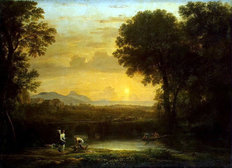 Gellee, Claude - Landscape with Tobias and the Angel. Hermitage ~ Part 05