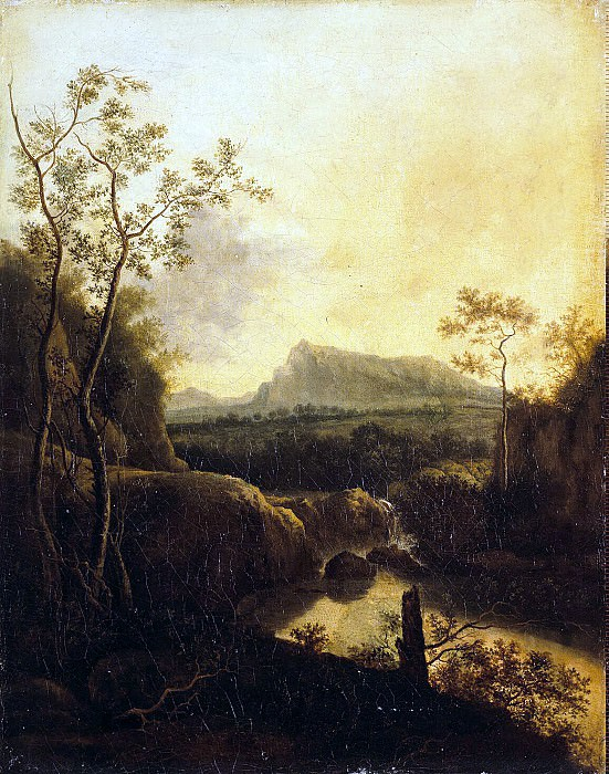 Landscape with waterfall. Hermitage ~ Part 05