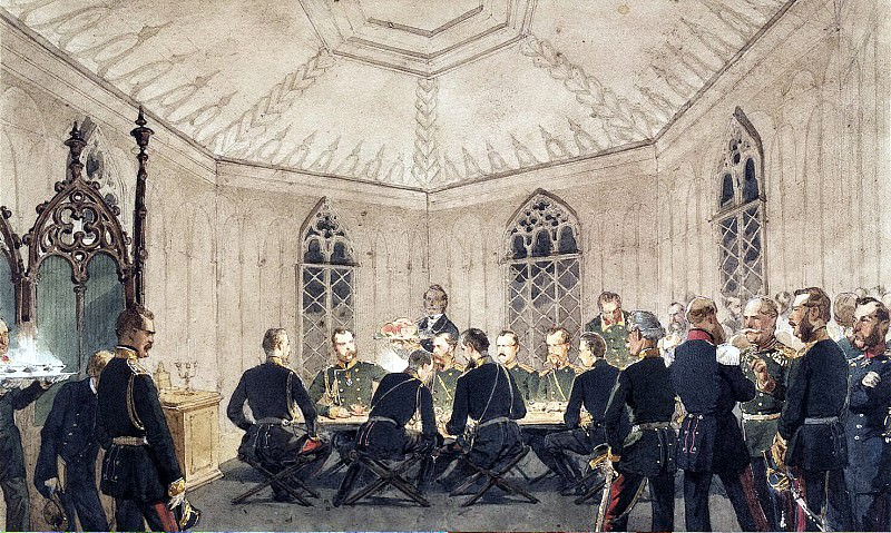Zichy, Mihaly - Alexander II with a group of governmental table in the Gothic interior. Hermitage ~ Part 05