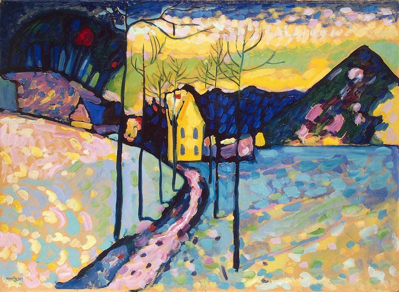Kandinsky, VV - Winter landscape. Hermitage ~ Part 05