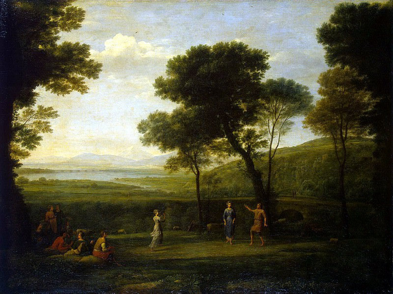 Gellee, Claude - Landscape with dancing. Hermitage ~ Part 05