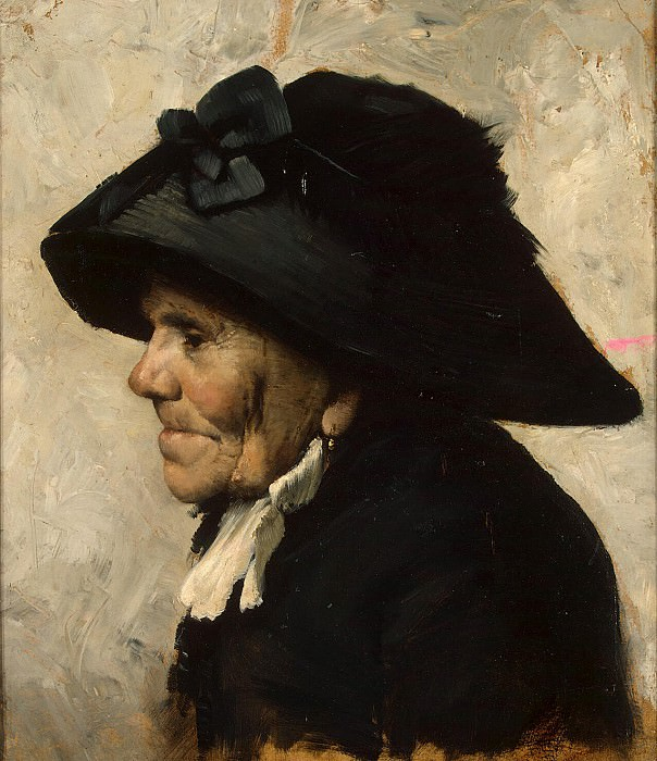 Geoffroy, Henri Jules Jean - Etude old womans head. Hermitage ~ Part 05