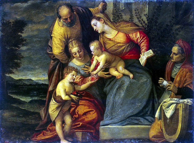 Caliari, Benedetto - Holy Family with St. Catherine, Anna and John. Hermitage ~ Part 05