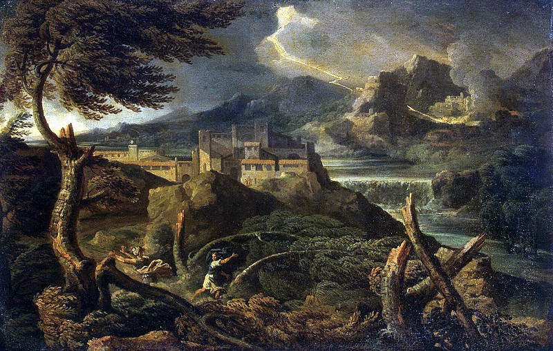 Dugue, Gaspard - Landscape with lightning. Hermitage ~ Part 05