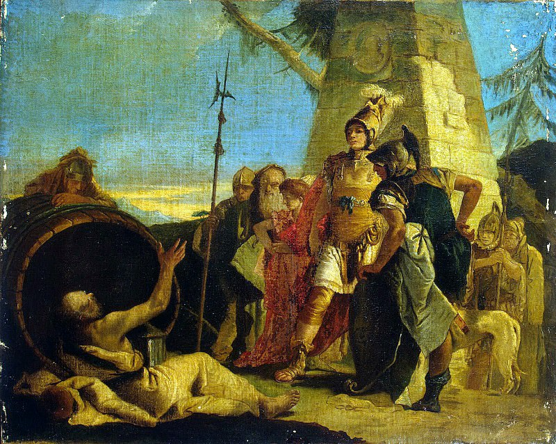 Alexander of Macedon and Diogenes. Hermitage ~ Part 05