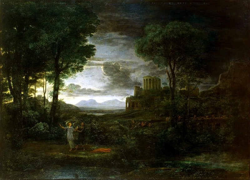 Gellee, Claude - Landscape with the struggle of Jacob with the angel. Hermitage ~ Part 05
