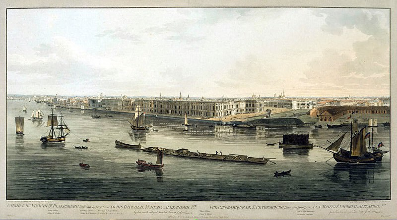 View of the Winter Palace and the Admiralty. Hermitage ~ Part 05