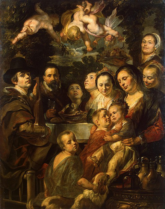 Jordaens, Jacob - Self-portrait with his parents, brothers and sisters. Hermitage ~ Part 05