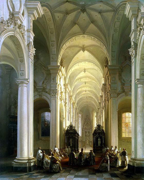 Zhenisson, Jules Viktor - Interior of the church in Averbode. Hermitage ~ Part 05