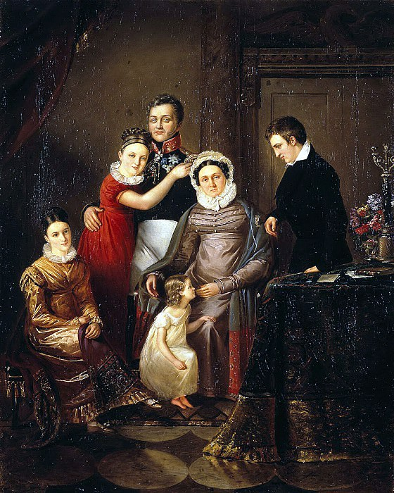 Portrait of the family of Prince NG Repnin-Volkonsky. Hermitage ~ Part 05