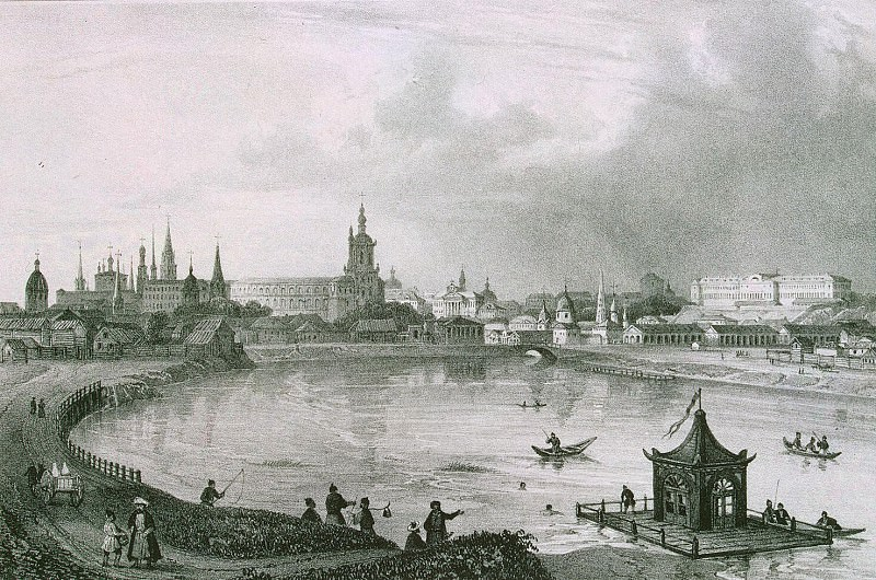 Zhakotte, Louis Julien - Panoramic view of the city of Kazan on the south side. Hermitage ~ Part 05