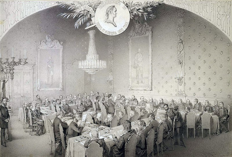 Zichy, Mihaly - Session of the State Council in 1884. Hermitage ~ Part 05
