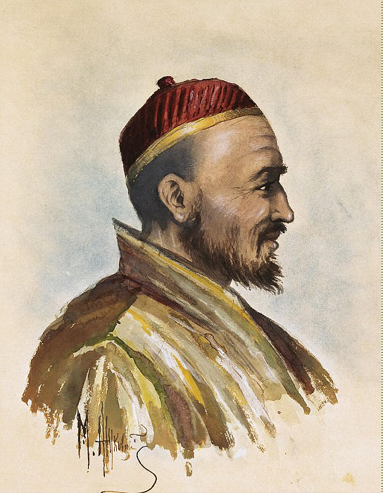 Zhukovsky M. - Portrait of Dr. P. Badmaeva. Hermitage ~ Part 05