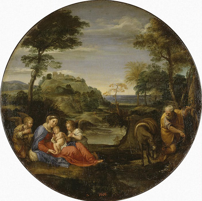 Carracci, Annibale - Holy Family Vacation on the way to Egypt. Hermitage ~ Part 05