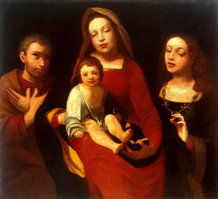 Carot, Giovanni Francesco - Madonna and Child with St. Francis and St. Catherine. Hermitage ~ Part 05