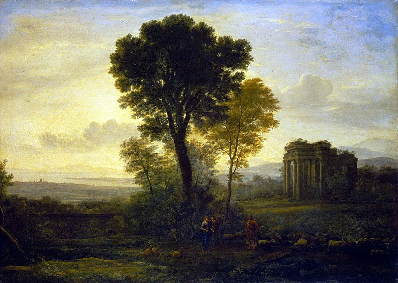 Gellee, Claude - Landscape with Jacob, Rachel and Leah at the Well. Hermitage ~ Part 05