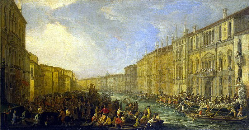 Karlevaris, Luca - Regatta on the Grand Canal in Venice in honor of Frederick IV of Denmark March 4, 1710. Hermitage ~ Part 05