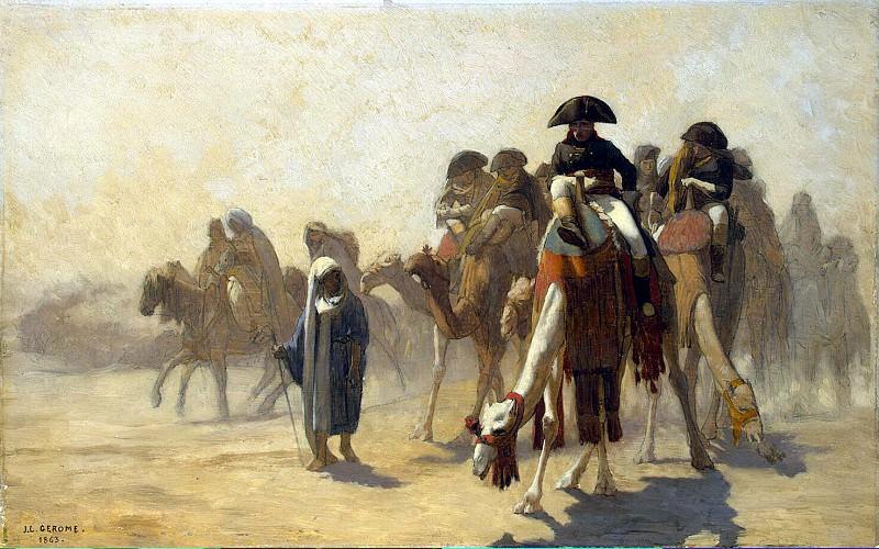 Gerome, Jean Leon - Bonaparte and his staff in Egypt. Hermitage ~ Part 05