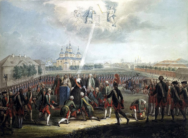 Oath of the Life Guards regiment Izmailovskii June 28, 1762. Hermitage ~ Part 05
