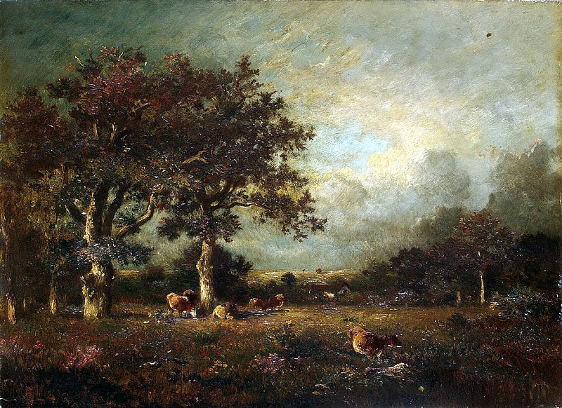 Dupre Jules - Landscape with cows. Hermitage ~ Part 05