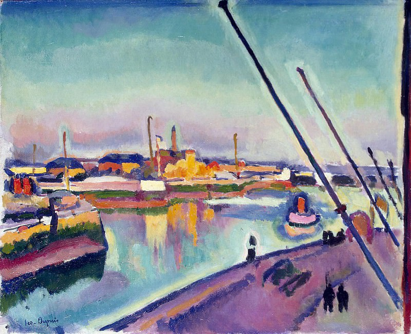 Dupuis, Georges Gustave Leon - Quay Notre Dame in Le Havre. Hermitage ~ Part 05