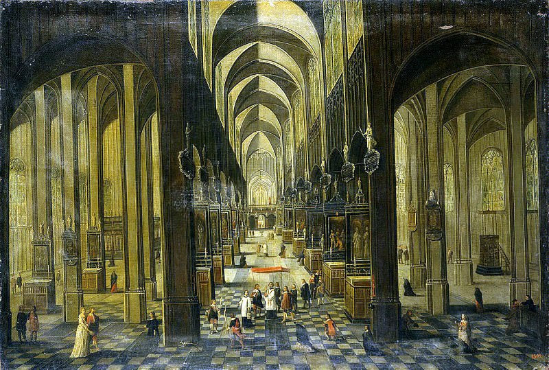 Interior of a Gothic church. Hermitage ~ Part 05