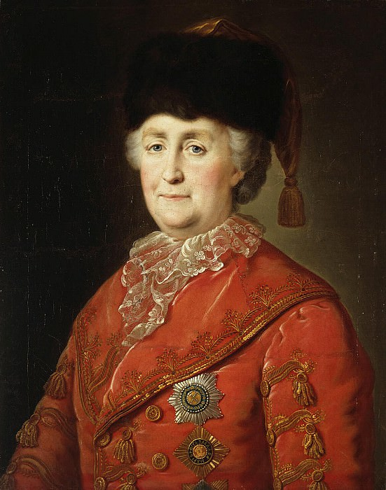 Portrait of Catherine II in traveling suit. Hermitage ~ Part 05