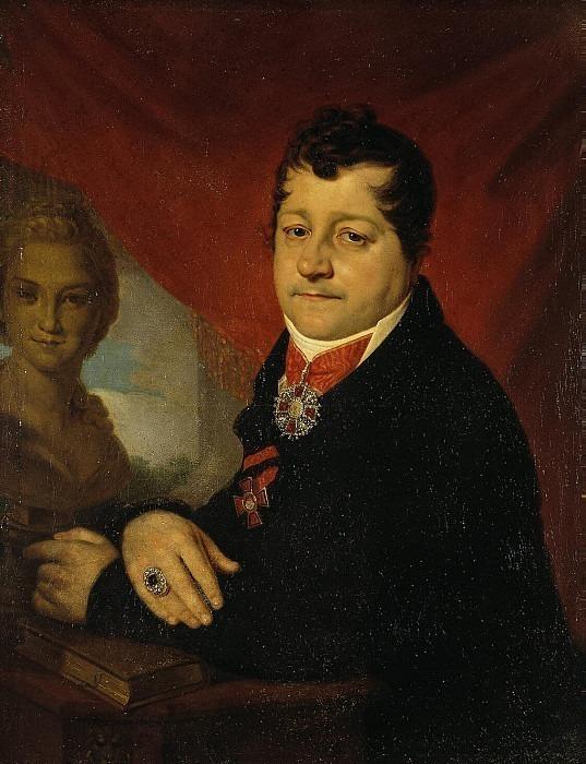 Borovikovsky Vladimir — Portrait of Sergei Yakovlev Savich. Hermitage ~ Part 05