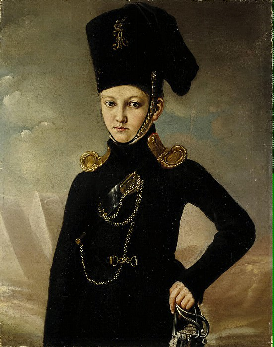 Portrait of a young officer Cossack regiment Dmitriev-Mamonova. Hermitage ~ Part 05