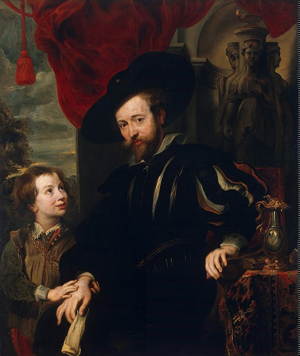 Portrait of Rubens and his son Albert. Hermitage ~ Part 05