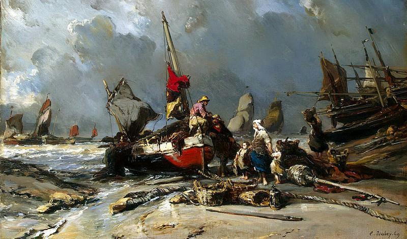 Isabey, Louis Gabriel Eugène - After the storm. Hermitage ~ Part 05